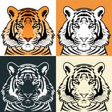 Tiger head silhouette, Vector. Illustration Royalty Free Stock Photos