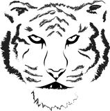 Tiger head silhouette, Vector Stock Photography
