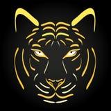 Tiger head silhouette. Vector tiger icon Stock Photos