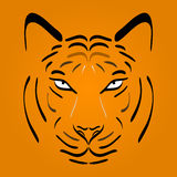 Tiger head silhouette. Vector tiger icon Stock Photography