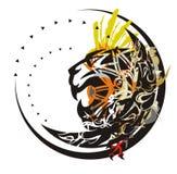 Tiger head symbol in a circle Stock Image