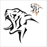 Tiger head symbol Stock Photography