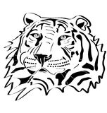Tiger head tattoo Stock Photography