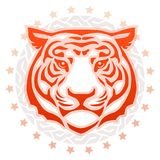 Tiger head tattoo stock images