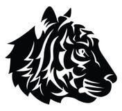 Tiger Head Tattoo Stock Image