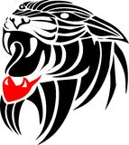 Tiger head_tattoo Stock Photography