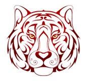 Tiger head tattoo Stock Photo