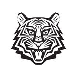 Tiger head - vector logo concept illustration in classic graphic style.  Stock Image