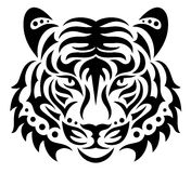 Tiger. Head of a tiger on the white background stock illustration