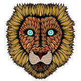 Tiger head zentangle Royalty Free Stock Photo