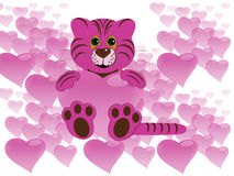 Tiger with heart Royalty Free Stock Images