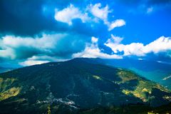 Tiger Hill Darjeeling view stock image