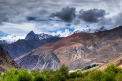 Tiger Hill , mountain at Drass - Kargil area, Leh, Ladakh, India. Tiger Hill , or 'Point 4660, highest peak at Drass - Kargil area, in the background, Leh stock image