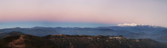 Tiger Hill Sunrise. Sunrise at the Kanchenjunga Range from a vantage point from Tiger Hill, Darjeeling, India Stock Images
