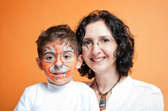 Tiger and his mother Royalty Free Stock Photos