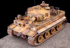 German heavy tank of World War II model Royalty Free Stock Images