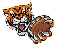 Tiger Holding American Football Ball illustration libre de droits