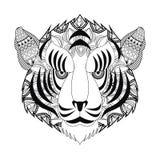 Tiger icon. Animal and Ornamental predator design. Vector graphi Stock Photos