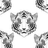 Tiger icon. Animal and Ornamental predator design. Vector graphi Stock Photo