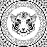 Tiger icon. Animal and Ornamental predator design. Vector graphi Royalty Free Stock Photos