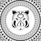 Tiger icon. Animal and Ornamental predator design. Vector graphi Royalty Free Stock Image