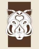 Tiger icon. Animal and Ornamental predator design. Vector graphi Stock Images