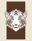 Tiger icon. Animal and Ornamental predator design. Vector graphi Stock Image