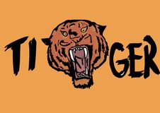 Tiger icon. Image of a tiger icon Stock Image