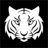 Tiger icon. Vector illustration for logo design, t-shirt print. Royalty Free Stock Photo