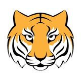 Tiger icon. Vector illustration for logo design, t-shirt print. Stock Photography