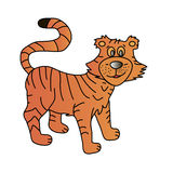 Tiger. This image is a  illustration and can be scaled to any size without loss of resolution Royalty Free Stock Image