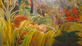 Free Tiger In A Tropical Storm By Henri Rousseau Royalty Free Stock Photos - 177948788