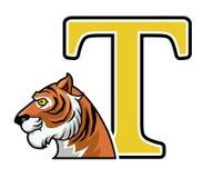Tiger Initial Royalty-vrije Stock Fotografie