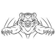 Tiger Jump Stockfotos
