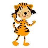 Tiger kids costume Royalty Free Stock Photo