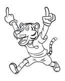 Tiger Kids Run Stock Image