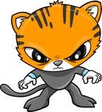 Tiger-Krieger-vektorabbildung Lizenzfreies Stockbild