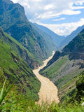 Tiger leaping gorge. River of Golden Sands stock photos