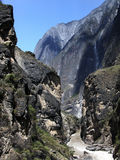 Tiger leaping gorge. Famous grand Tiger leaping gorge in China royalty free stock images