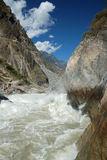 Tiger Leaping Gorge. On the yangtze river near lijiang Royalty Free Stock Images
