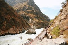 Tiger Leaping Gorge. Is the first Grand Canyon on the Jinsha River & x28;the Yangtze River& x29;. It is also the famous Grand Canyon in the world.  is located Stock Images