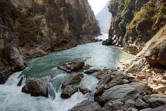 Tiger Leaping Gorge (hutiaoxia) near Lijiang, Yunnan Province, China Royalty Free Stock Images