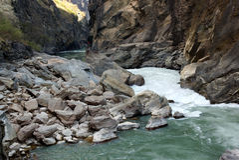 Tiger Leaping Gorge (hutiaoxia) near Lijiang, Yunnan Province, China Stock Images