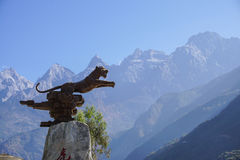 Tiger Leaping Gorge in Lijiang, provincia di Yunnan, Cina Fotografia Stock Libera da Diritti