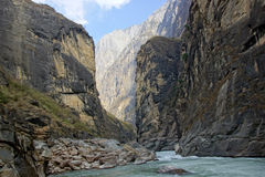 Tiger Leaping Gorge near Lijiang, Yunnan Province, China Royalty Free Stock Image