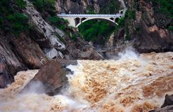 Tiger Leaping Gorge-Stone Tiger Leaping Stock Photography