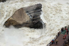 The Tiger Leaping Gorge. Tiger Leaping Gorge is the world famous Grand Canyon, grotesque known to the world Royalty Free Stock Photo