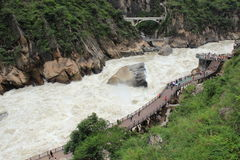 The Tiger Leaping Gorge. Tiger Leaping Gorge is the world famous Grand Canyon, grotesque known to the world Stock Photo