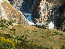 Tiger Leaping Gorge, Yunnan in China Royalty Free Stock Photography