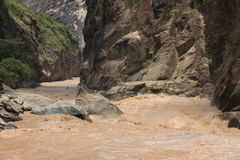 Tiger Leaping Gorge in Yunnan scenery Royalty Free Stock Photography